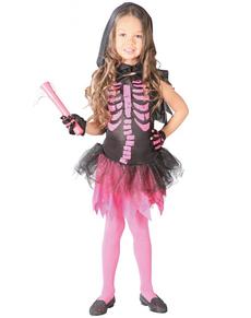disfraz de esqueleto rosa para nia