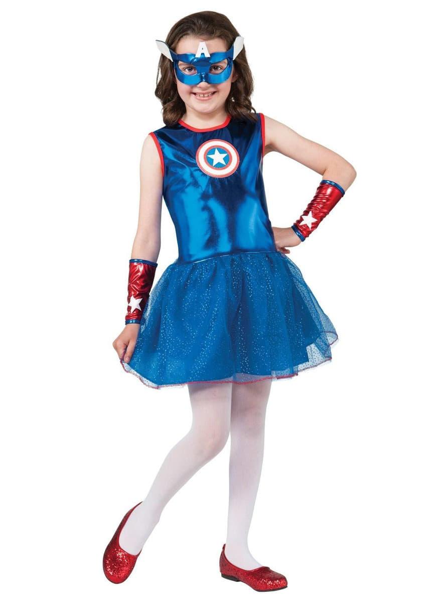 Costume captain america tutu pour fille funidelia - Captain america fille ...