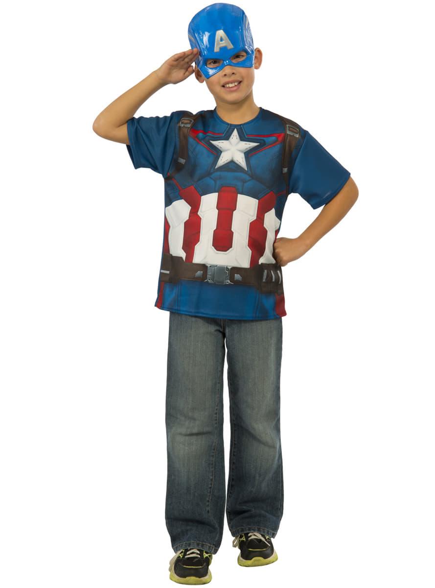 captain america kost m set f r jungen avengers age of ultron. Black Bedroom Furniture Sets. Home Design Ideas