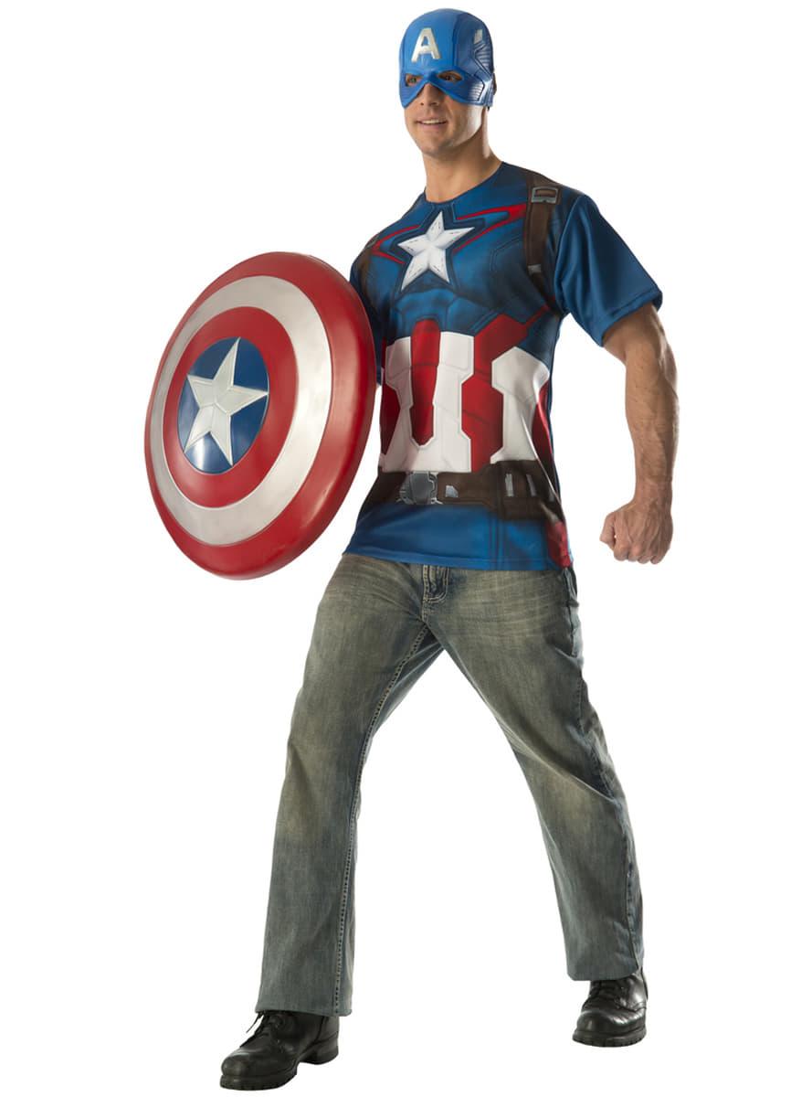captain america kost m set aus avengers age of ultron. Black Bedroom Furniture Sets. Home Design Ideas