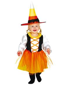 disfraz de brujita naranja para beb