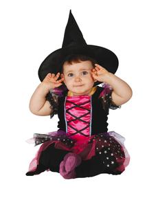 disfraz de brujita rosa para beb