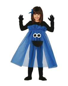 disfraz de monstruo azul tut para nia