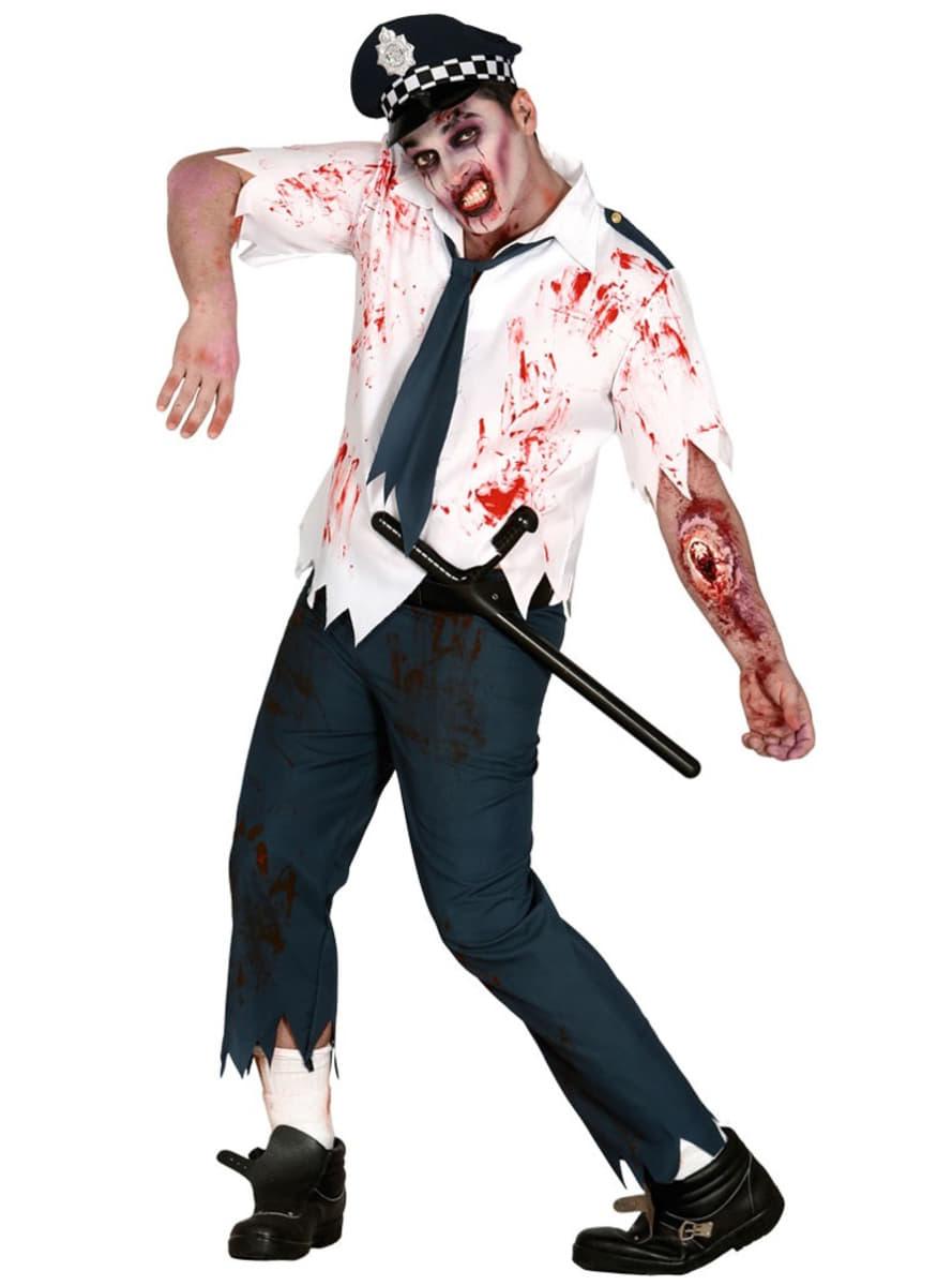 zombie polizist kost m f r herren. Black Bedroom Furniture Sets. Home Design Ideas