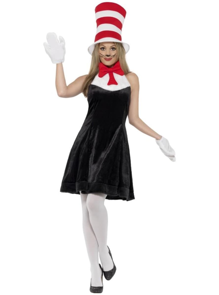 Disfraz de gato con sombrero dr seuss para mujer funidelia - Disfraces el gato negro ...